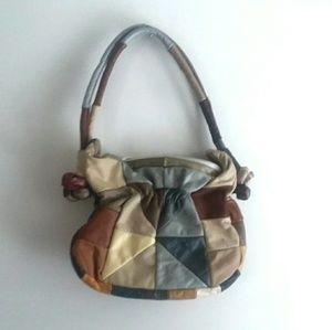 Mexican Genuine Leather Patchwork Handbag